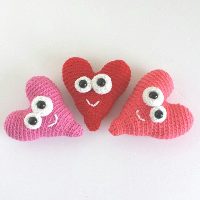 caseyplusthree crochet hearts