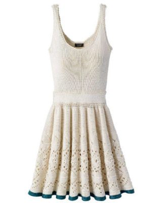 chanel crochet dress