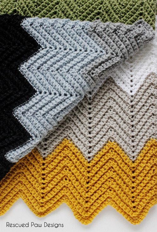 Free Crochet Patterns For Blankets And Throws : Crochet Inspiration: 60 Chevrons, Ripples, Waves (Patterns ...