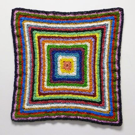 colorful crochet art