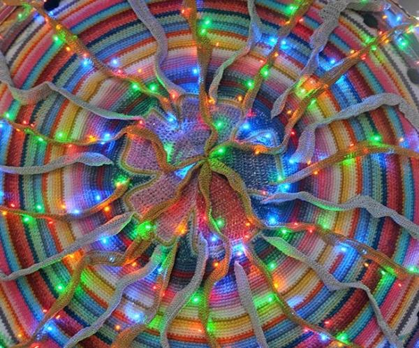 crochet art lights