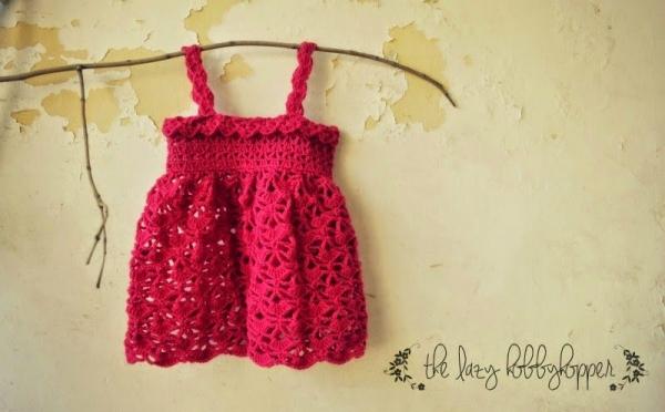 Haak baby jurk patroon