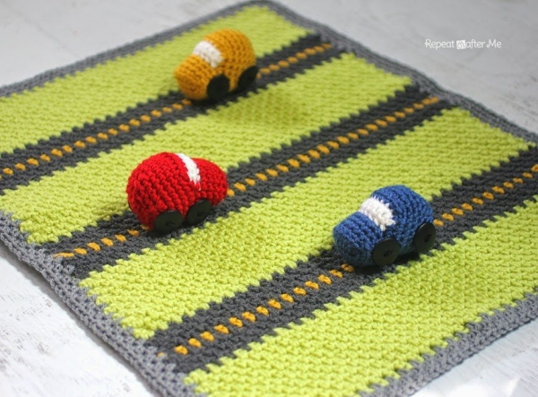 crochet car blanket