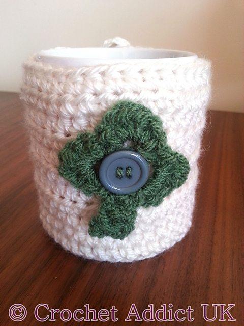 crochet clover cozy