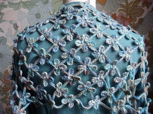 gehaakte klaver shawl