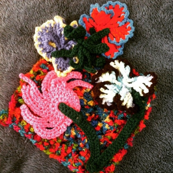 crochet flower art