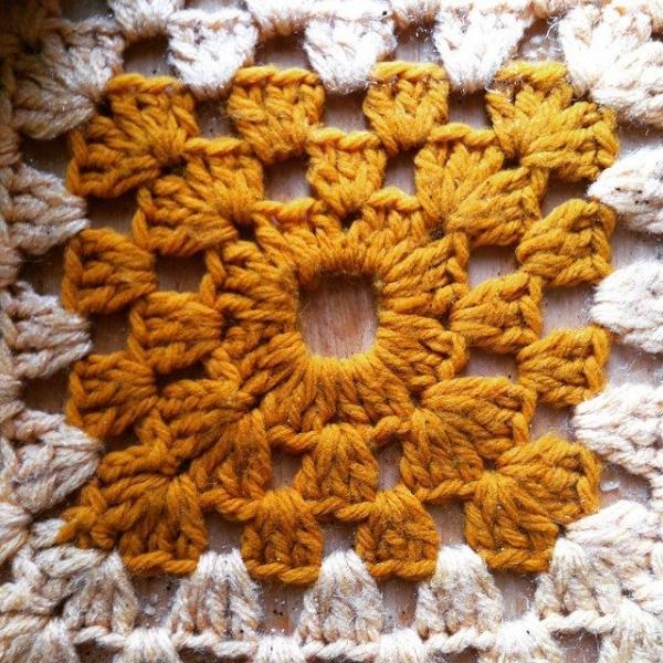crochet granny square retro