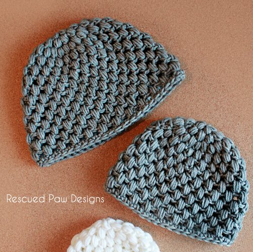 puff stitch crochet hat free pattern