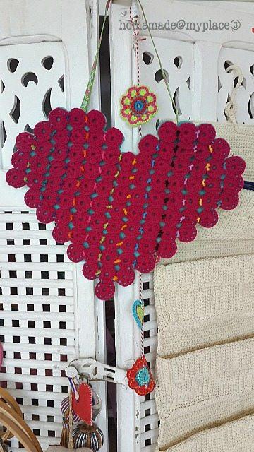 crochet heart pouch