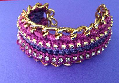 crochet jewelry bracelet