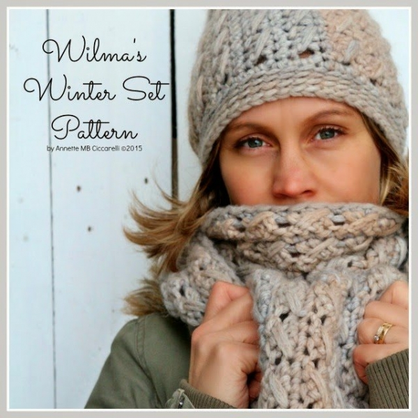 matching crochet cable scarf and hat patterns
