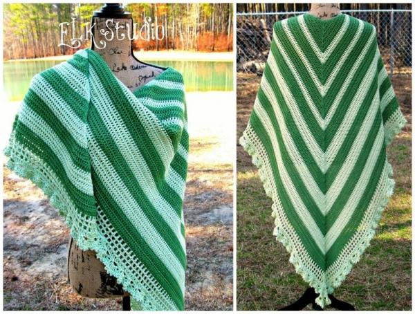 Gehaakte sjaal gratis patroon