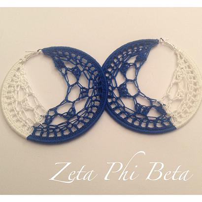 crochet sorority earrings
