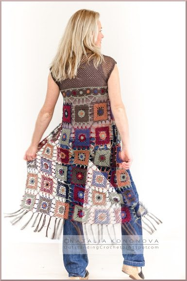 Free Crochet Granny Square Vest Patterns : 21 New Crochet Patterns + Crochet Art, Fashion, Books and ...