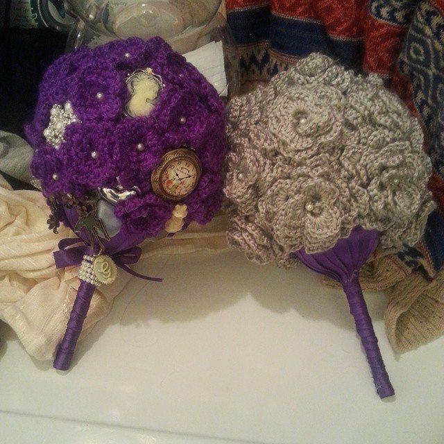 crochetbyshelby crochet bouquet