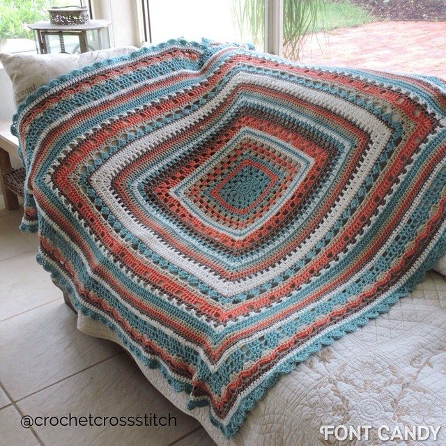 crochetcrossstitch crochet blanket