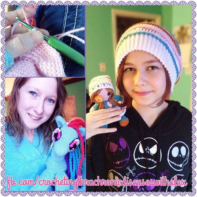 crochetingthruchronicdiseases crochet hats