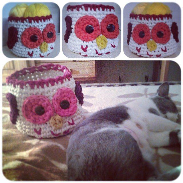 crochetinpaternoster crochet owl basket