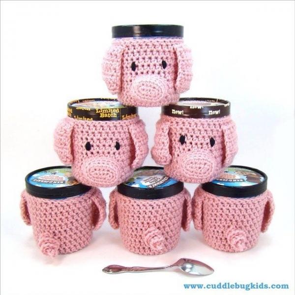 cuddlebugkids crochet pig cozies