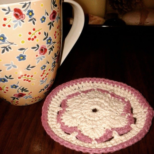 dojocrochet crochet coaster