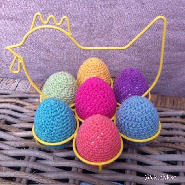 ektelykke crochet eggs