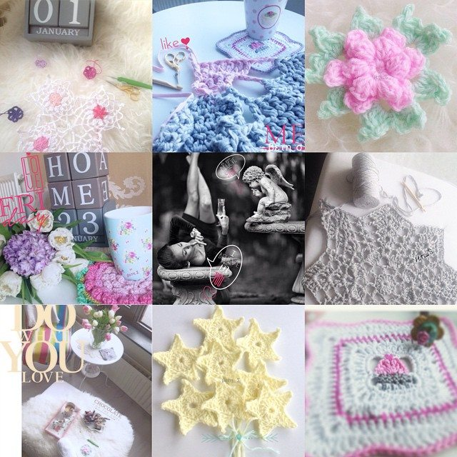 fancyladybug crochet collage