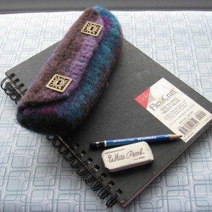 felt crochet pouch