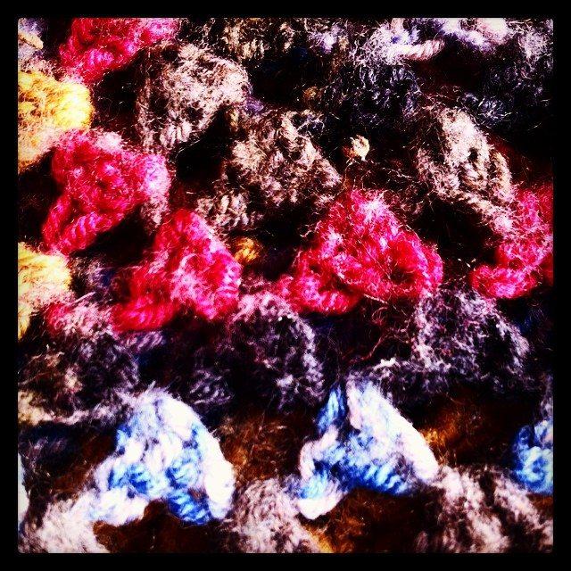 felted crochet granny