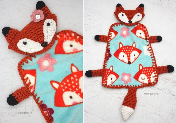 fox uncinetto coperta