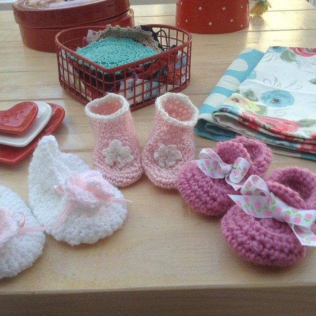 franloveswool crochet booties