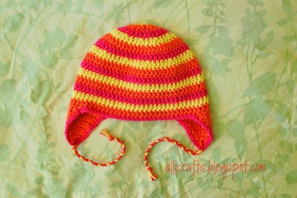 gratis gehaakte hoed patroon