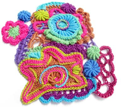 freeform crochet art