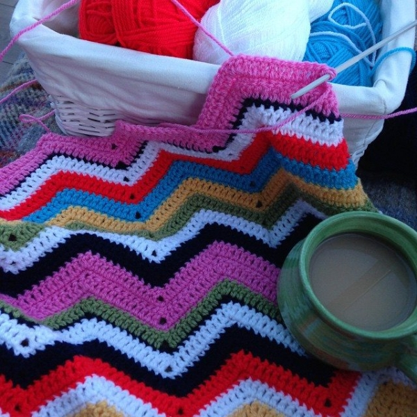 gooseberryfool crochet chevron blanket