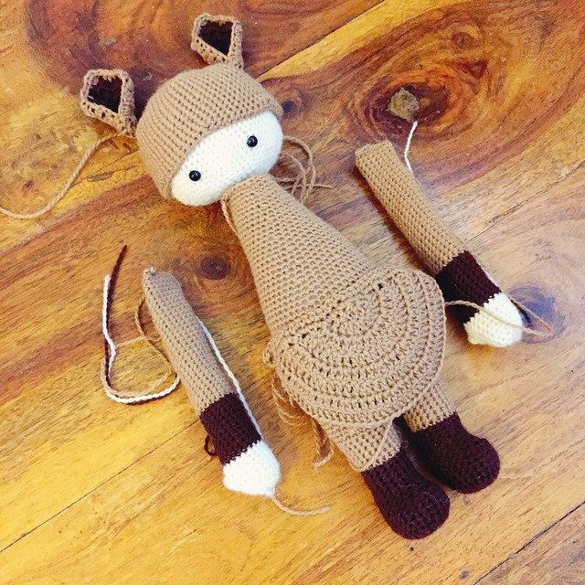 holly_pips crochet doll kangaroo