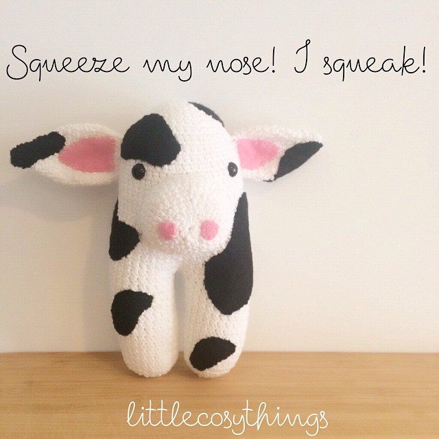 littlecosythings crochet cow video