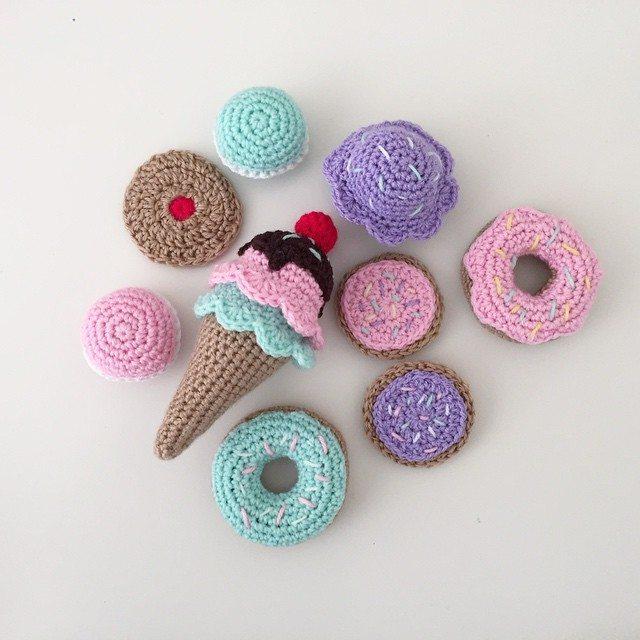 littlefoxcrochet crochet donuts