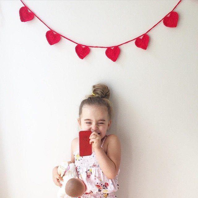 littlefoxcrochet crochet heart garlands