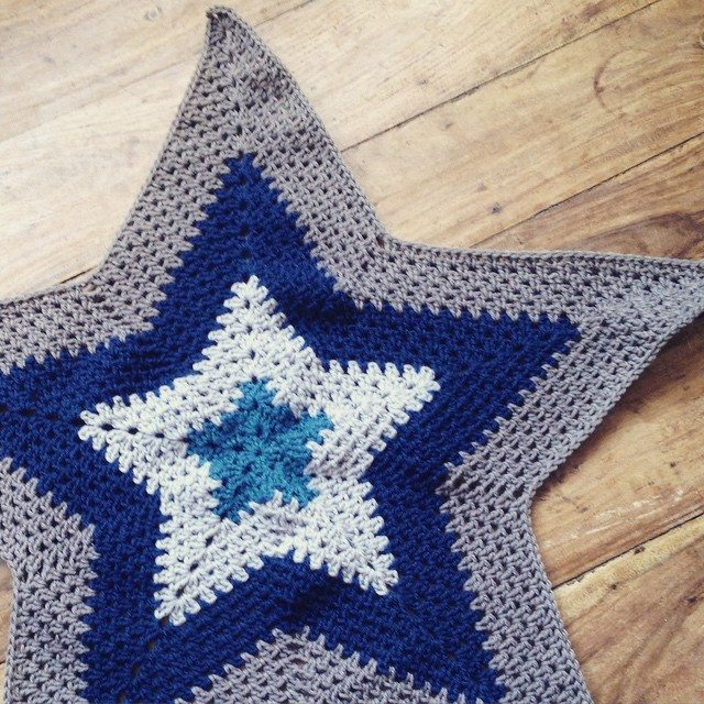 lou.teacrochet crochetstar blanket