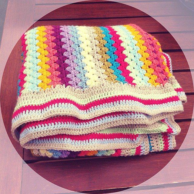 lyndapc crochet granny stripes