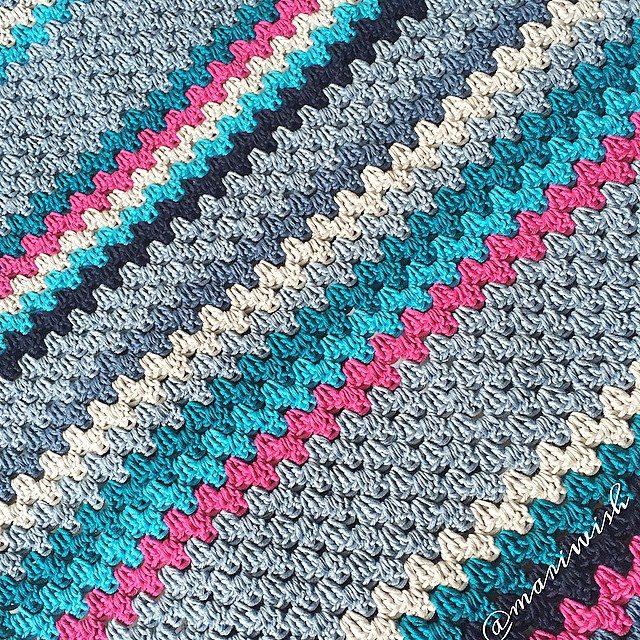 mariwish crochet granny stripe
