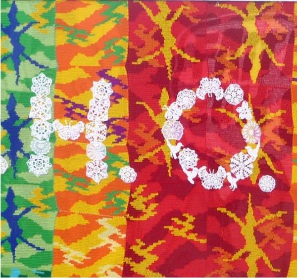 olek crochet art