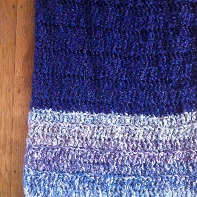 oversized crochet scarf 2