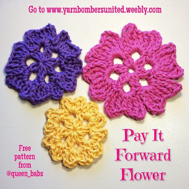 queen_babs crochet flower pattern
