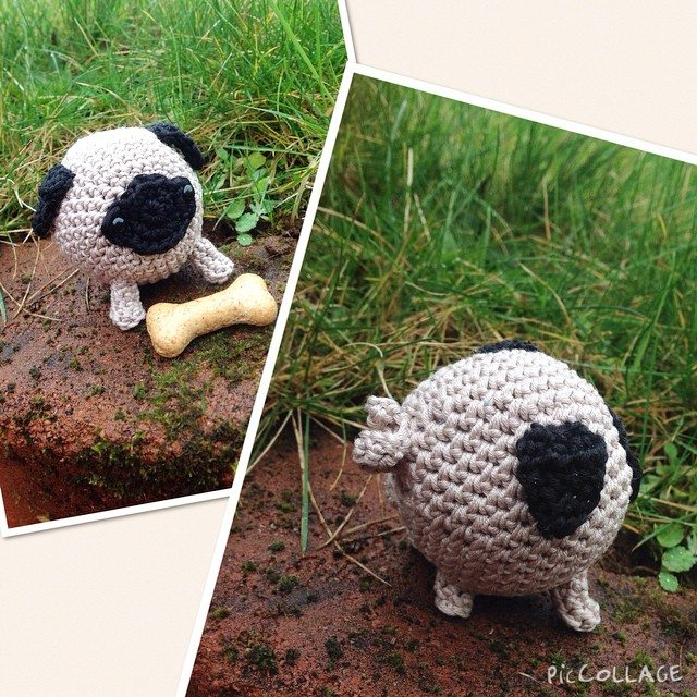 rachelribbons crochet pug