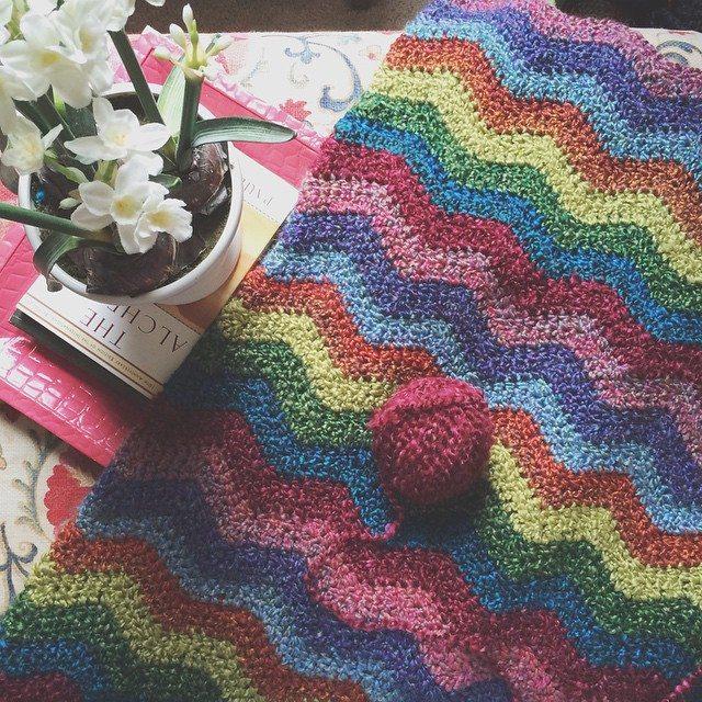 raimarie16 crochet chevron blanket