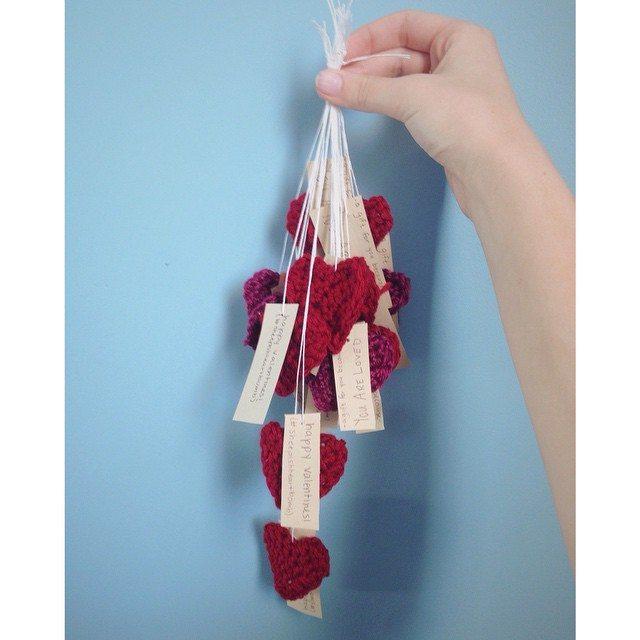 rebeccabeedesigns crochet hearts