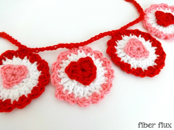 crochet hearts garland