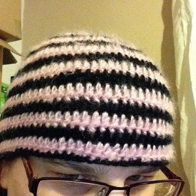 silvery_cloud crochet hat