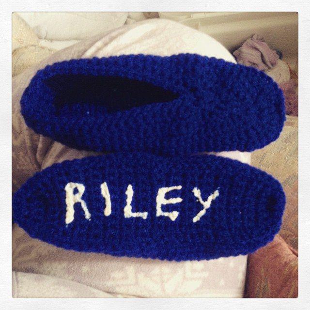 silvery_cloud crochet slippers