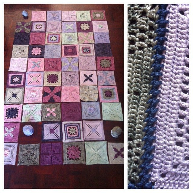 stephaniedavies crochet squares blanket